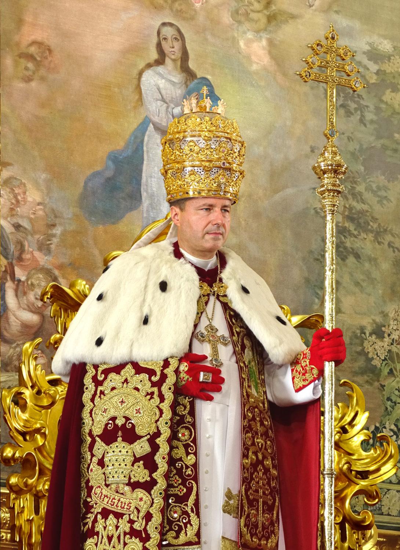 """<a href=""""papst-petrus-iii//"""" title=""""Seiner Heiligkeit Papst Petrus III"""">Seiner Heiligkeit Papst Petrus III, <br><i> De Glória Ecclésiæ </i><br><br>der glücklich regiert<br><br><br>Mehr</a>"""