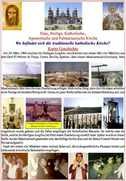"""<a href=""""https://www.palmarianischekirche.org/wp-content/uploads/2018/12/Folheto-german.pdf"""" title=""""Wo befindet sich die traditionelle katholische Kirche?"""">Wo befindet sich die traditionelle katholische Kirche? <br> <br>Mehr"""