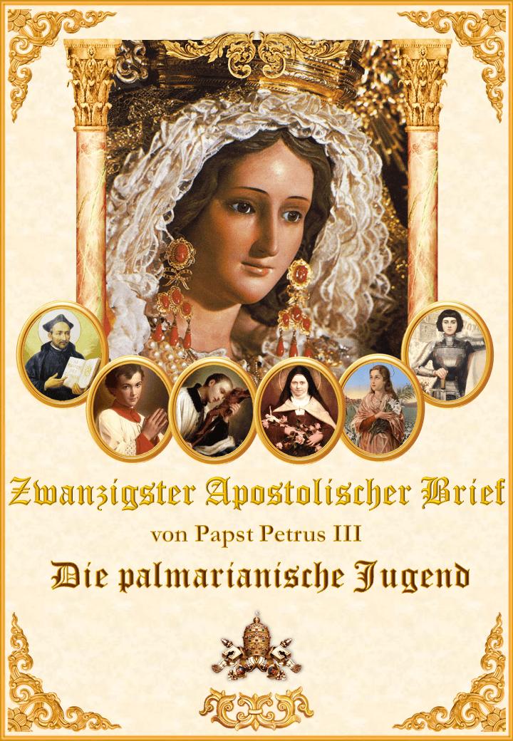 """<a href=""""/wp-content/uploads/2021/03/Carta-20-ALE-Website-1.pdf"""" title=""""Zwanzigster Apostolischer Brief von Papst Petrus III""""><i>Zwanzigster Apostolischer Brief von Papst Petrus III<br><br>Mehr</i></a>"""